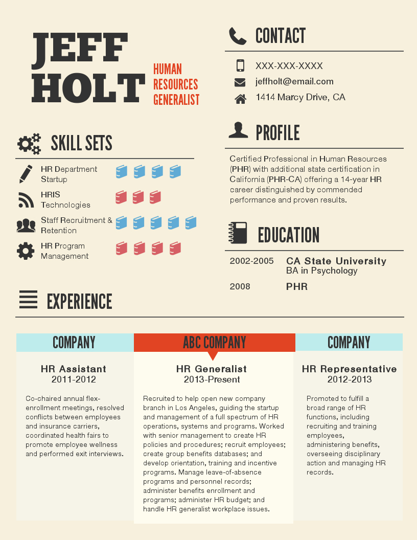 Resume with Picture Template New Infographic Resume Template Venngage