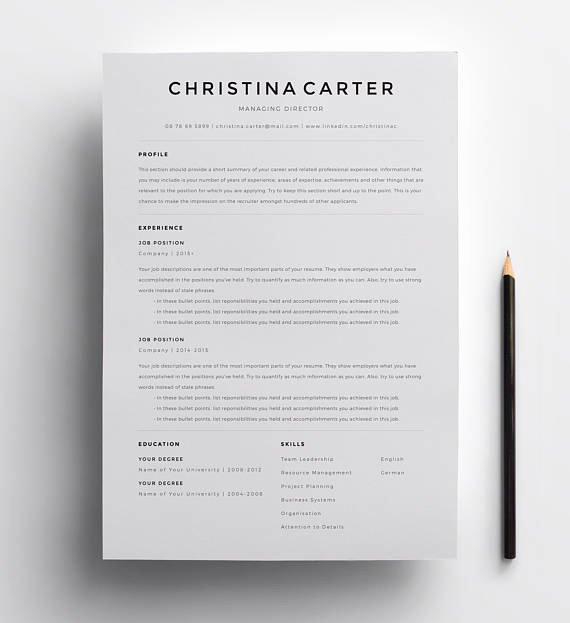 Resume with Picture Template Unique Creative Resume Template Minimalist Resume Resume Modern
