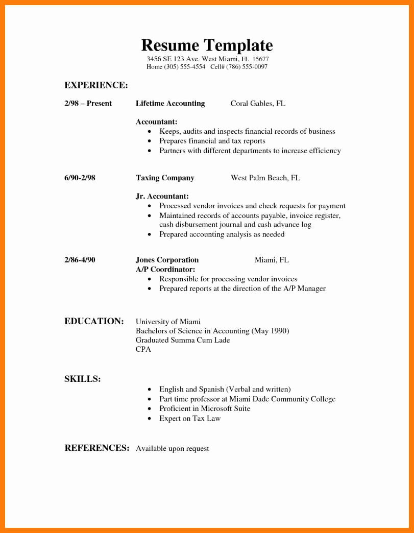 part time job resume example