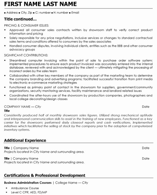 Retail Store Manager Resume Inspirational Retail Manager Resume Sample & Template