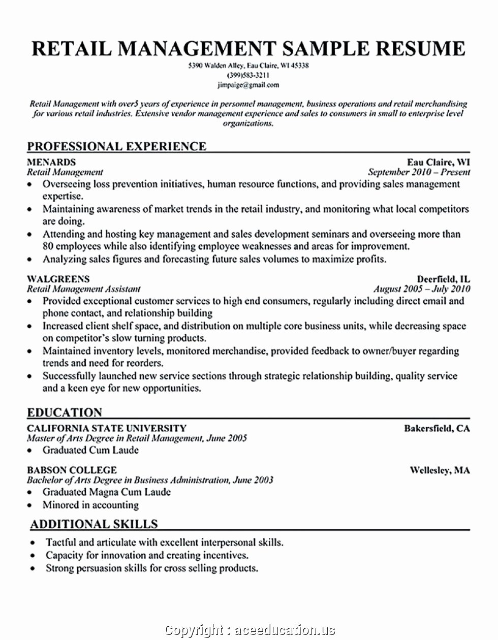 Retail Store Manager Resume Luxury Creative Clothing Store Manager Resume Example Resume