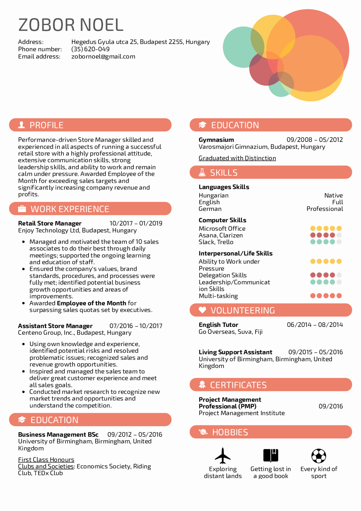 Retail Store Manager Resume New Resume Examples by Real People Retail Store Manager