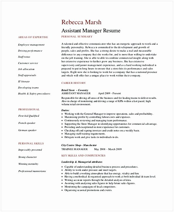 Retail Store Manager Resume Unique Retail Manager Resume Examples