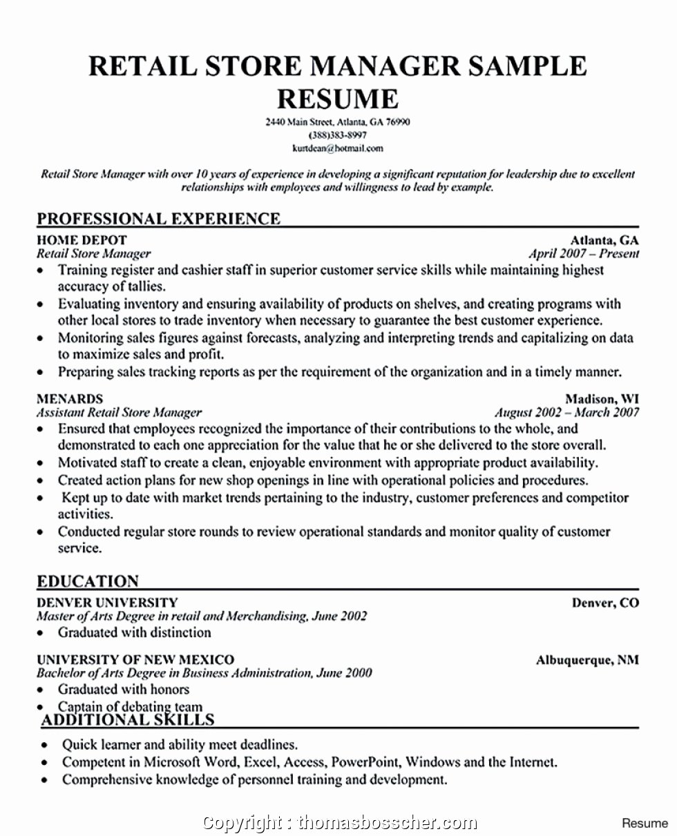 Retail Store Manager Resumes Beautiful Modern Retail Store Manager Resume India Resumes Store