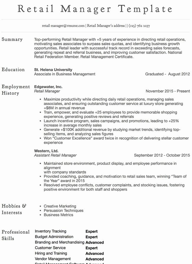 Retail Store Manager Resumes Elegant Cashier Resume Sample Professional Examples