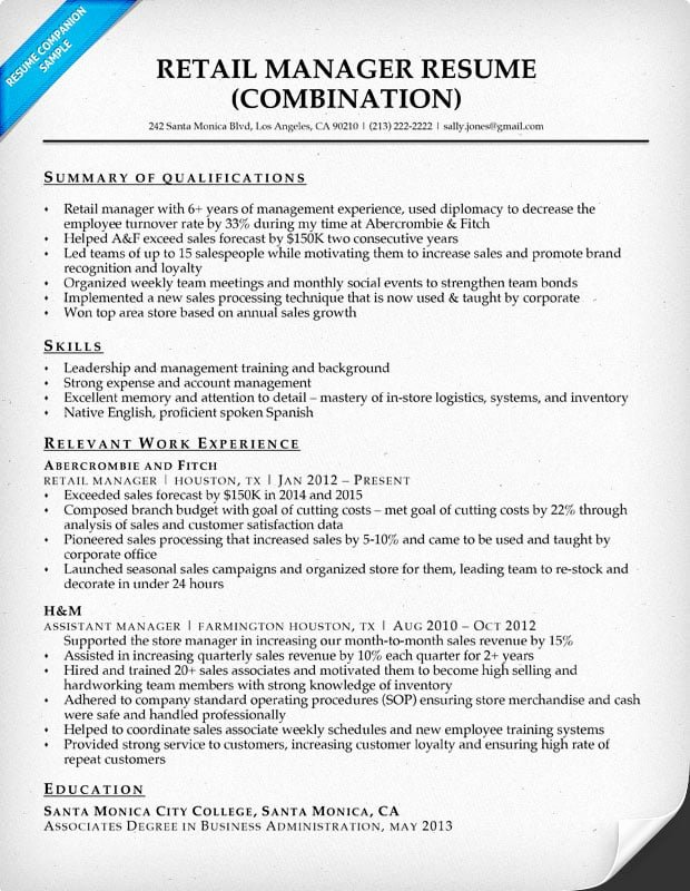 Retail Store Manager Resumes Inspirational Retail Manager Resume Sample & Writing Tips