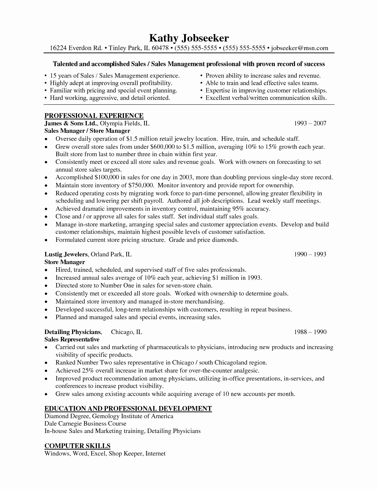 Retail Store Manager Resumes New Resume Examples for Retail Store Manager