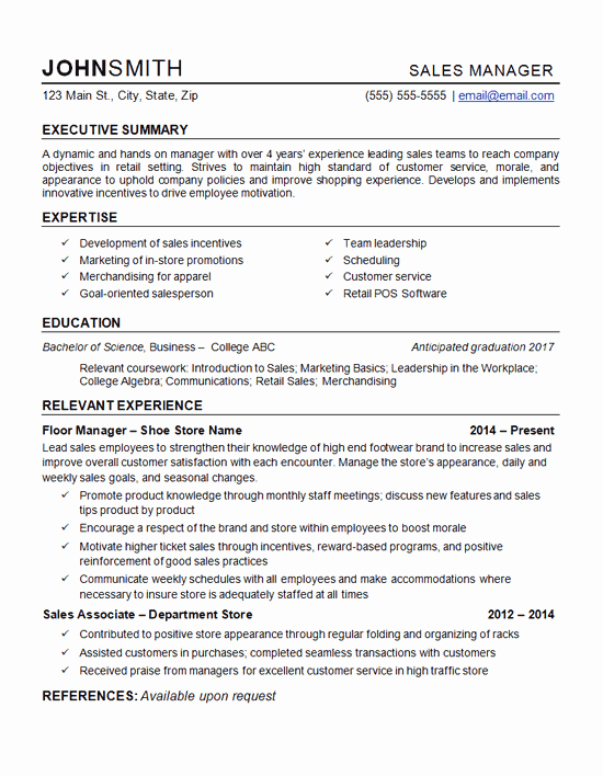 Retail Store Manager Resumes Unique Retail Manager Resume Example Department Store