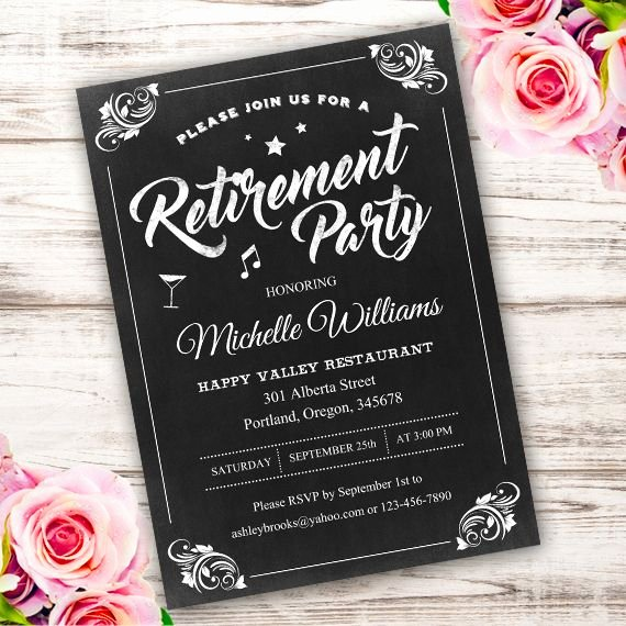 Retirement Party Invitations Template Beautiful Best 25 Retirement Invitations Ideas On Pinterest
