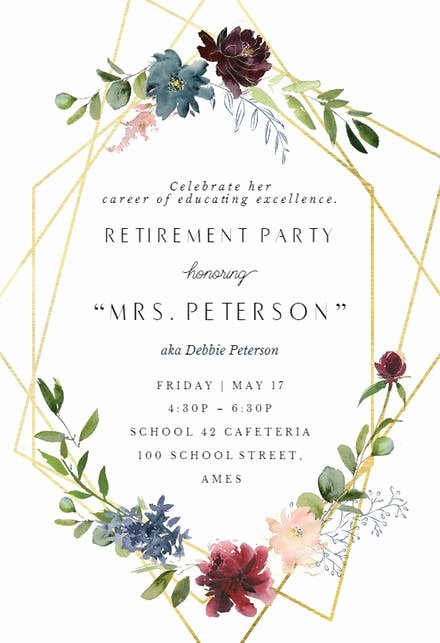Retirement Party Invitations Template Best Of Retirement & Farewell Party Invitation Templates Free