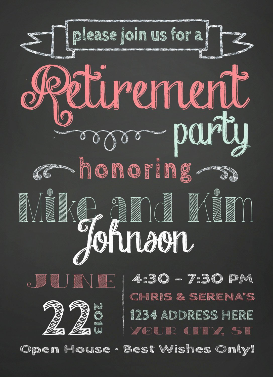 Retirement Party Invitations Template Elegant Retirement Party Invitation