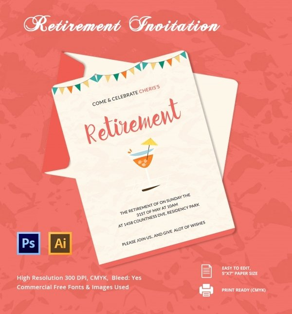 Retirement Party Invitations Template Fresh 33 Party Invitation Templates Free Psd Vector Eps Ai