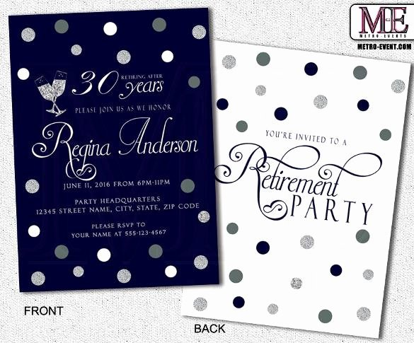 Retirement Party Invitations Template Fresh 36 Retirement Party Invitation Templates Free Download