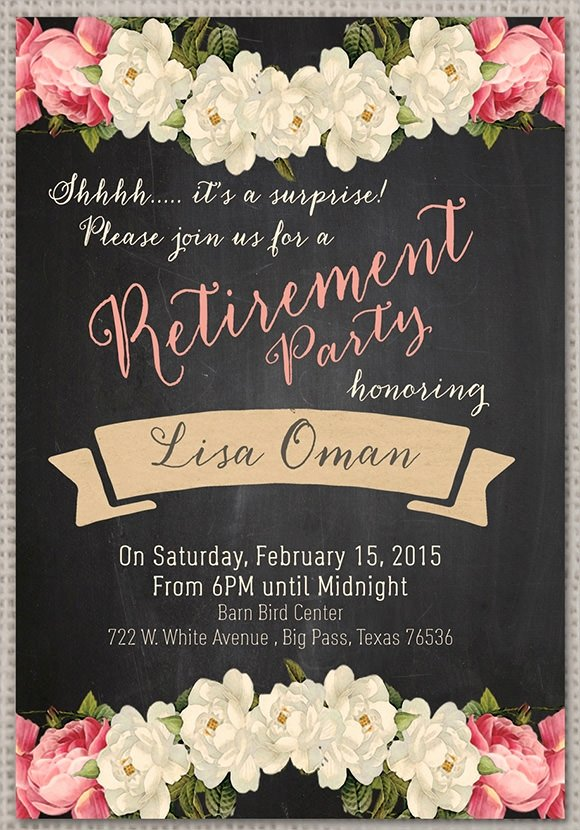 Retirement Party Invitations Template Fresh Retirement Party Invitation 7 Premium Download