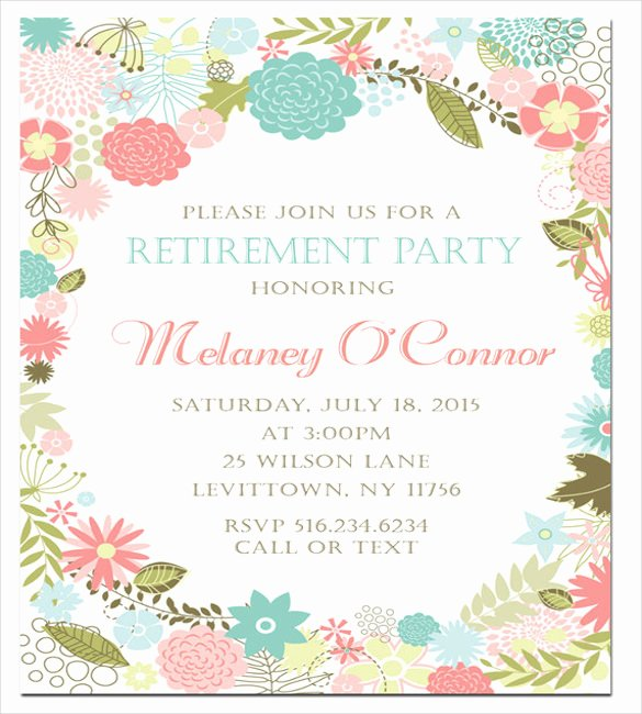 Retirement Party Invitations Template Fresh Retirement Party Invitation Template – 36 Free Psd format