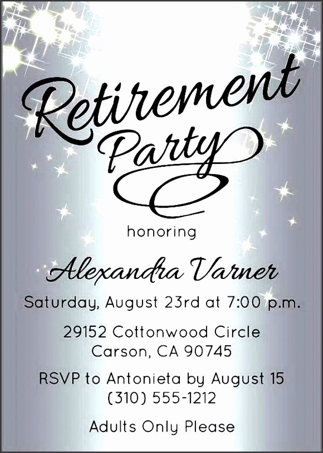 Retirement Party Invitations Template Inspirational 10 Retirement Party Invitation Template Sampletemplatess