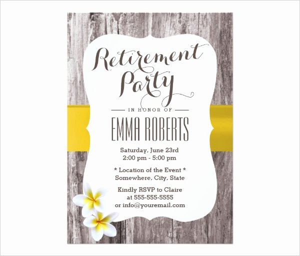 Retirement Party Invitations Template Lovely 36 Retirement Party Invitation Templates Psd Ai Word