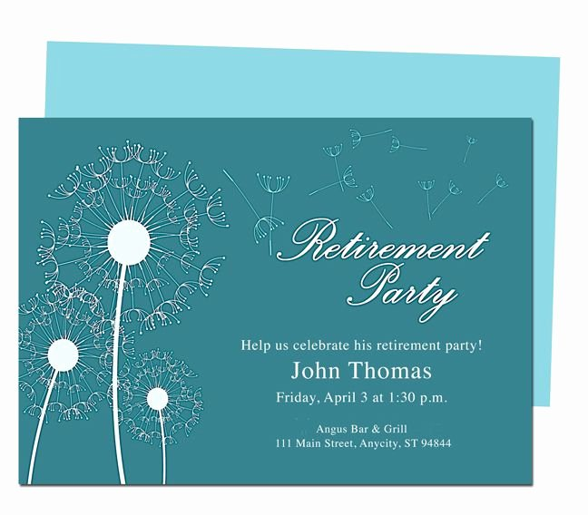 Retirement Party Invitations Template Lovely Winds Retirement Party Invitation Templates Diy Printable