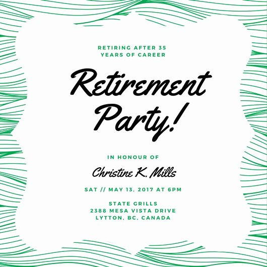 Retirement Party Invitations Template New Customize 3 999 Retirement Party Invitation Templates