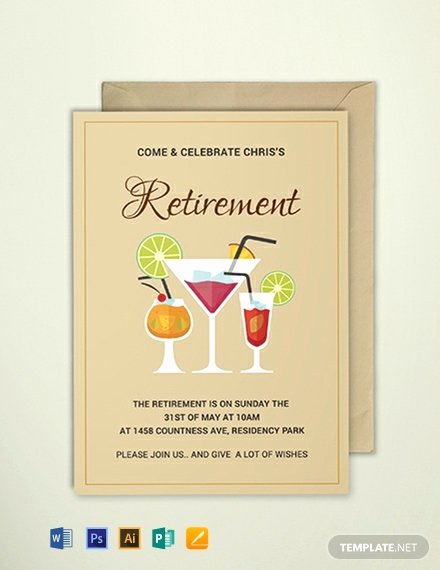 Retirement Party Invitations Template New Free Printable Retirement Party Invitation Template Word