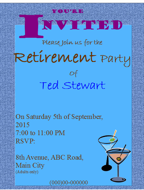 Retirement Party Invitations Template Unique Retirement Party Flyer Invitation