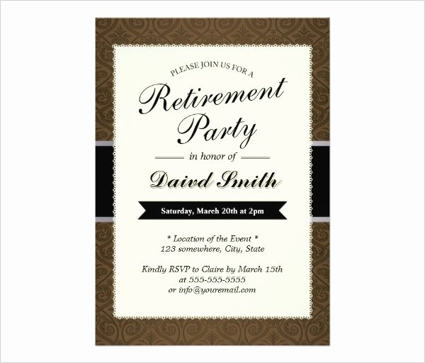 Retirement Party Invitations Templates Awesome 36 Retirement Party Invitation Templates Psd Ai Word