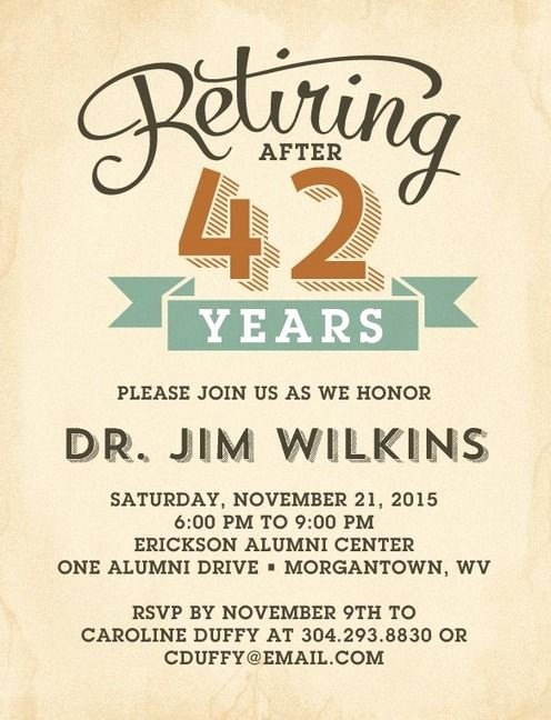 Retirement Party Invitations Templates Awesome Refined Retirement Party Invitation Postcards In Rust or