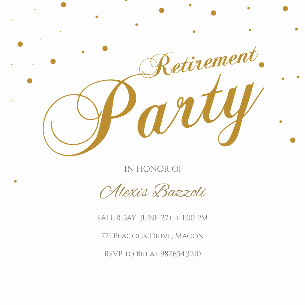 Retirement Party Invitations Templates Awesome Stylish Script Business event Invitation Template Free