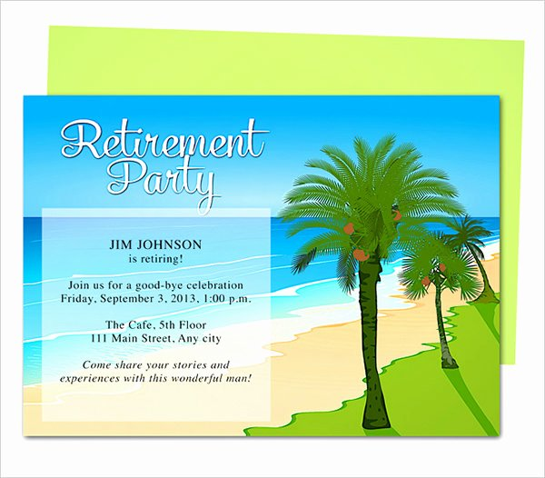 Retirement Party Invitations Templates Best Of Retirement Party Invitation Template 36 Free Psd format