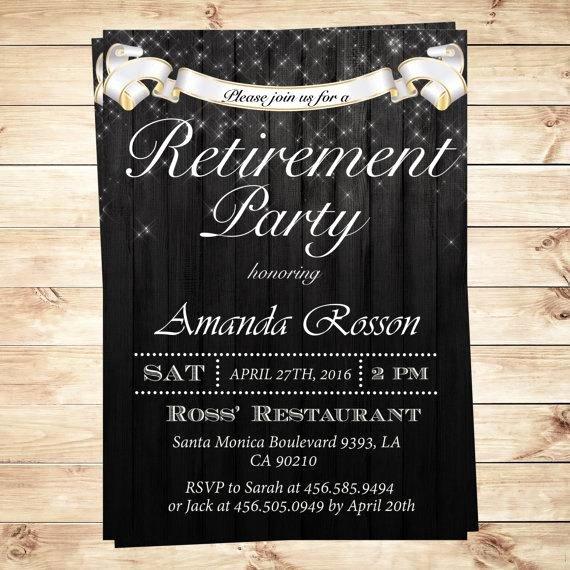 Retirement Party Invitations Templates Elegant Elegant Retirement Party Invitations Surprise Retirement
