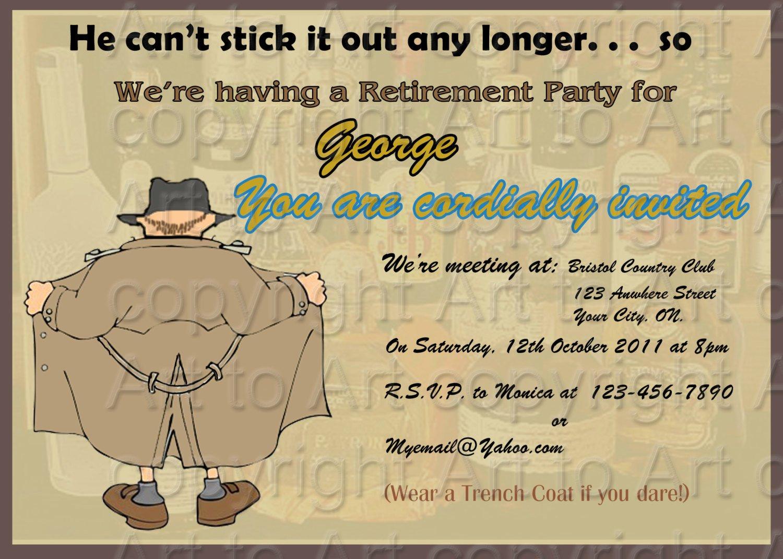 Retirement Party Invitations Templates Elegant Retirement Party Invitation 180 Personalized Digital You