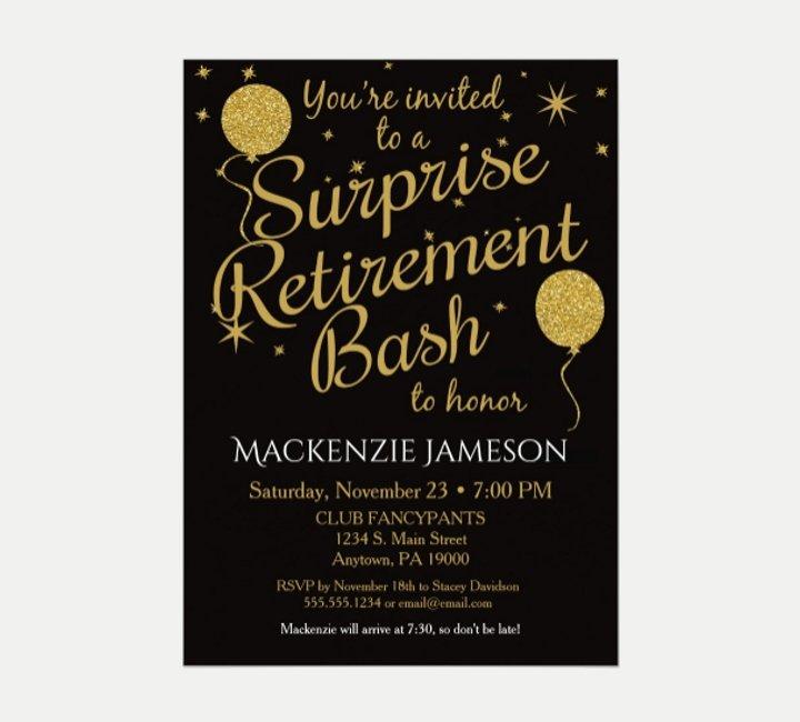 Retirement Party Invitations Templates Inspirational 21 attractive Retirement Invitation Designs Psd Ai