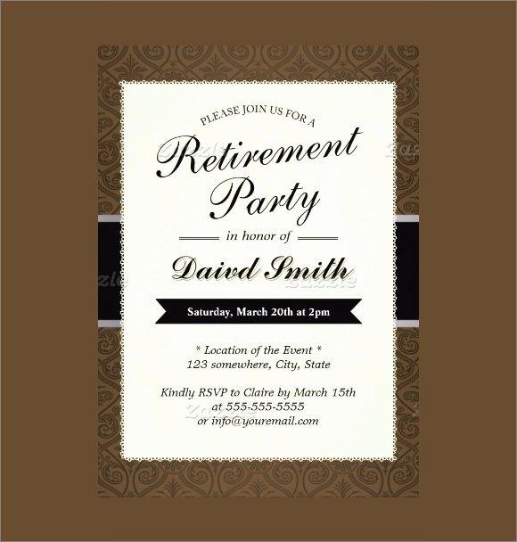 Retirement Party Invitations Templates Inspirational Retirement Party Invitation 7 Premium Download