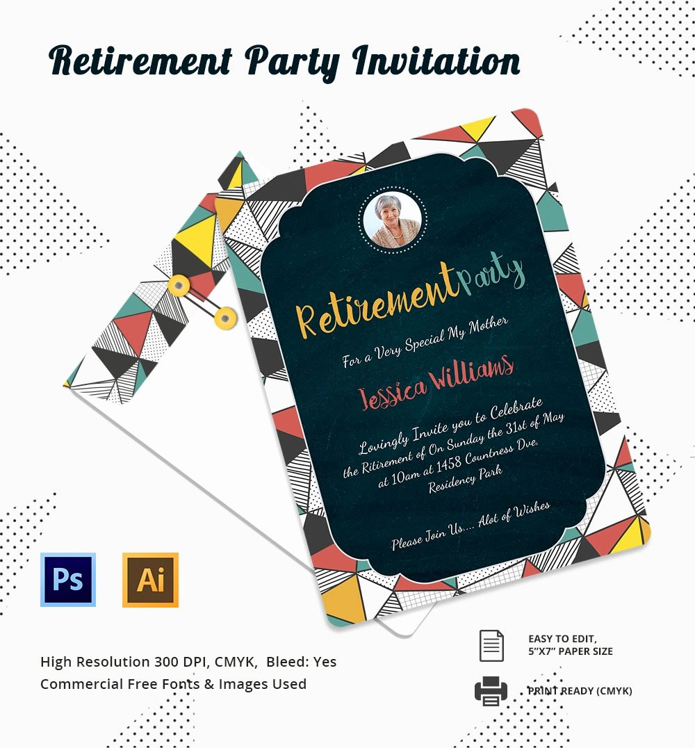 Retirement Party Invitations Templates Lovely 25 Retirement Invitation Templates Psd Vector Eps Ai