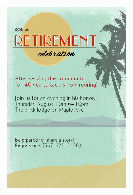 Retirement Party Invitations Templates Lovely Its A Retirement Celebration Retirement & Farewell Party