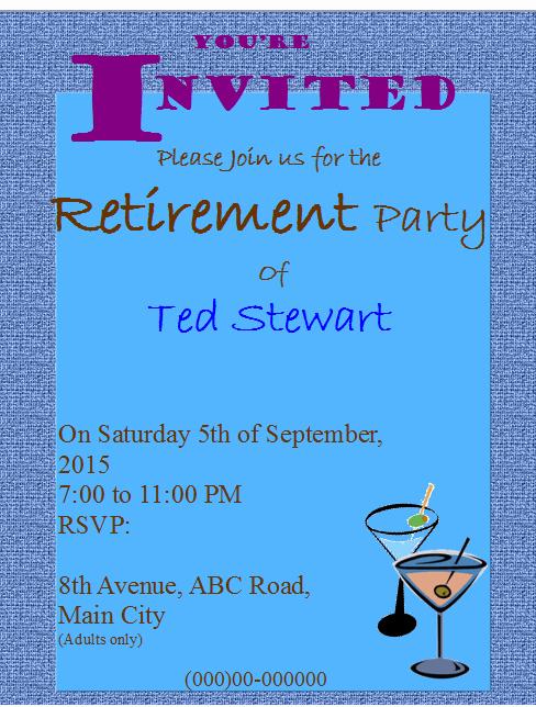 retirement party flyer invitation