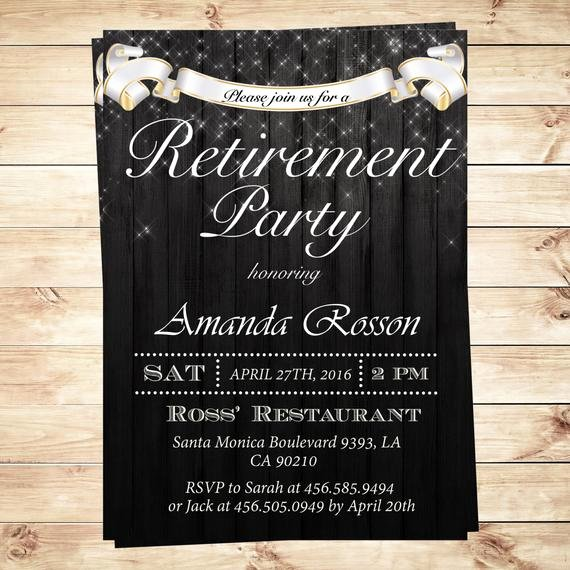 Retirement Party Invitations Templates Luxury Elegant Retirement Party Invitations by Diypartyinvitation