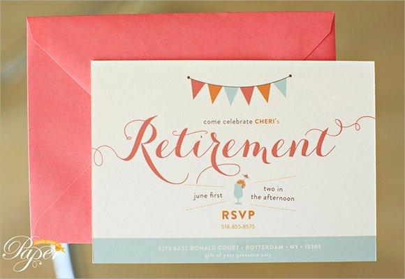 Retirement Party Invitations Templates Luxury Free 17 Retirement Party Invitations In Illustrator