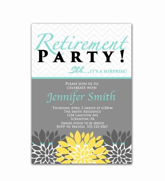 Retirement Party Invitations Templates Luxury Surprise Retirement Party Invitation Blue Yellow by