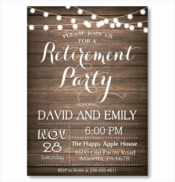 Retirement Party Invitations Templates New 36 Retirement Party Invitation Templates Psd Ai Word