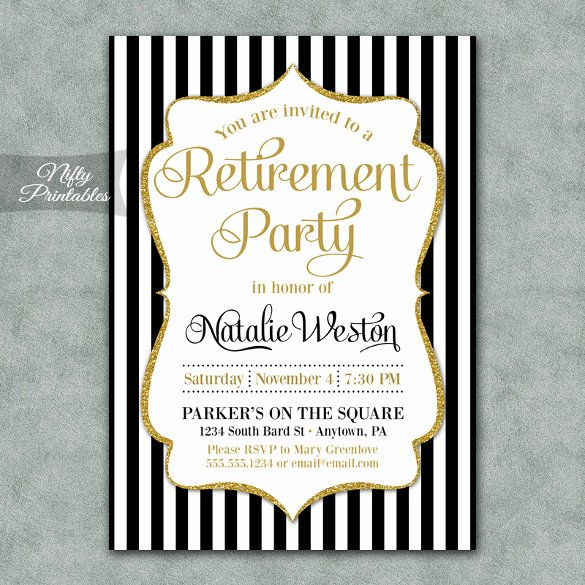 Retirement Party Invitations Templates New Retirement Party Invitation Template – 36 Free Psd format