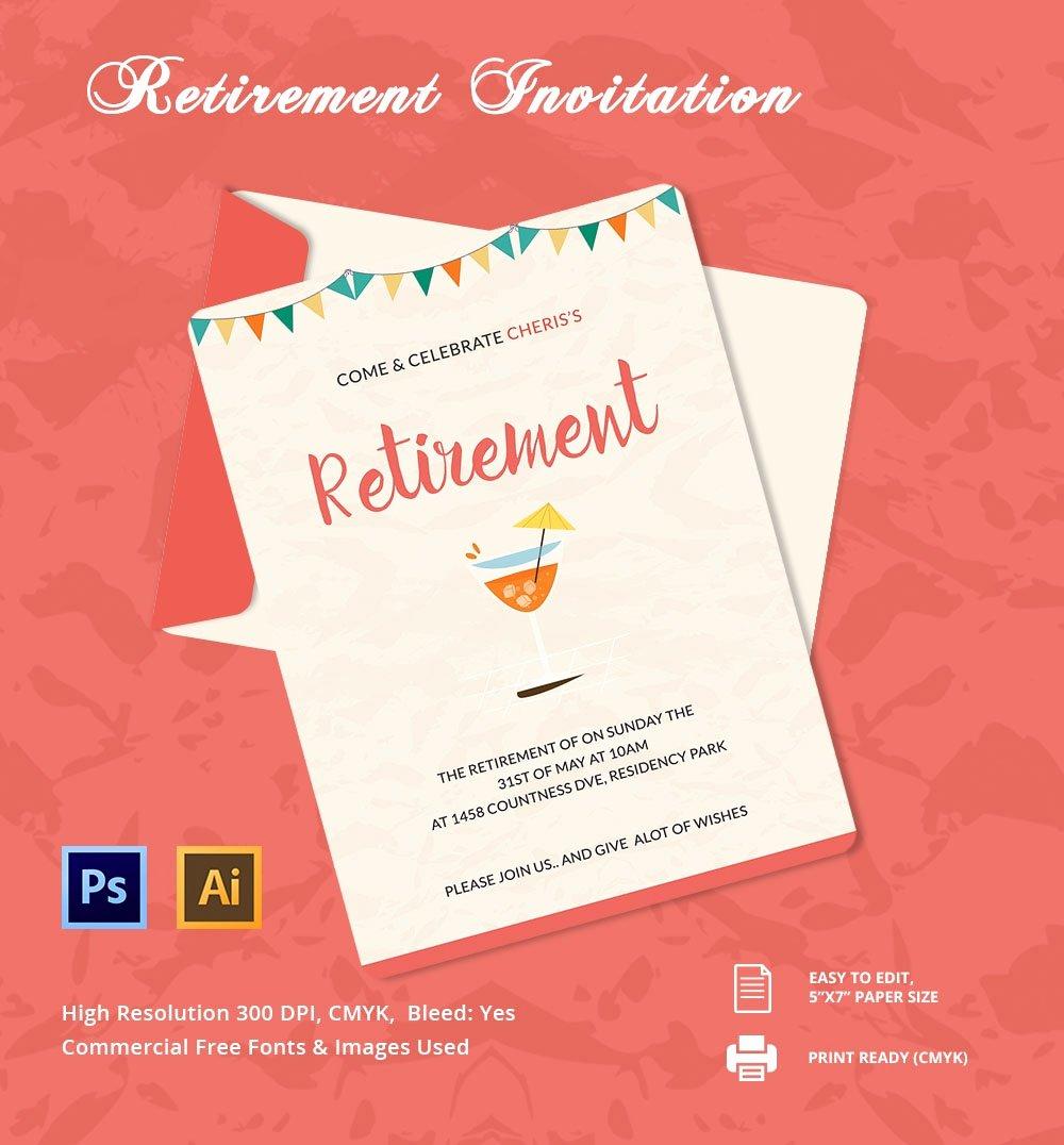 Retirement Party Invitations Templates Unique 25 Retirement Invitation Templates Psd Vector Eps Ai