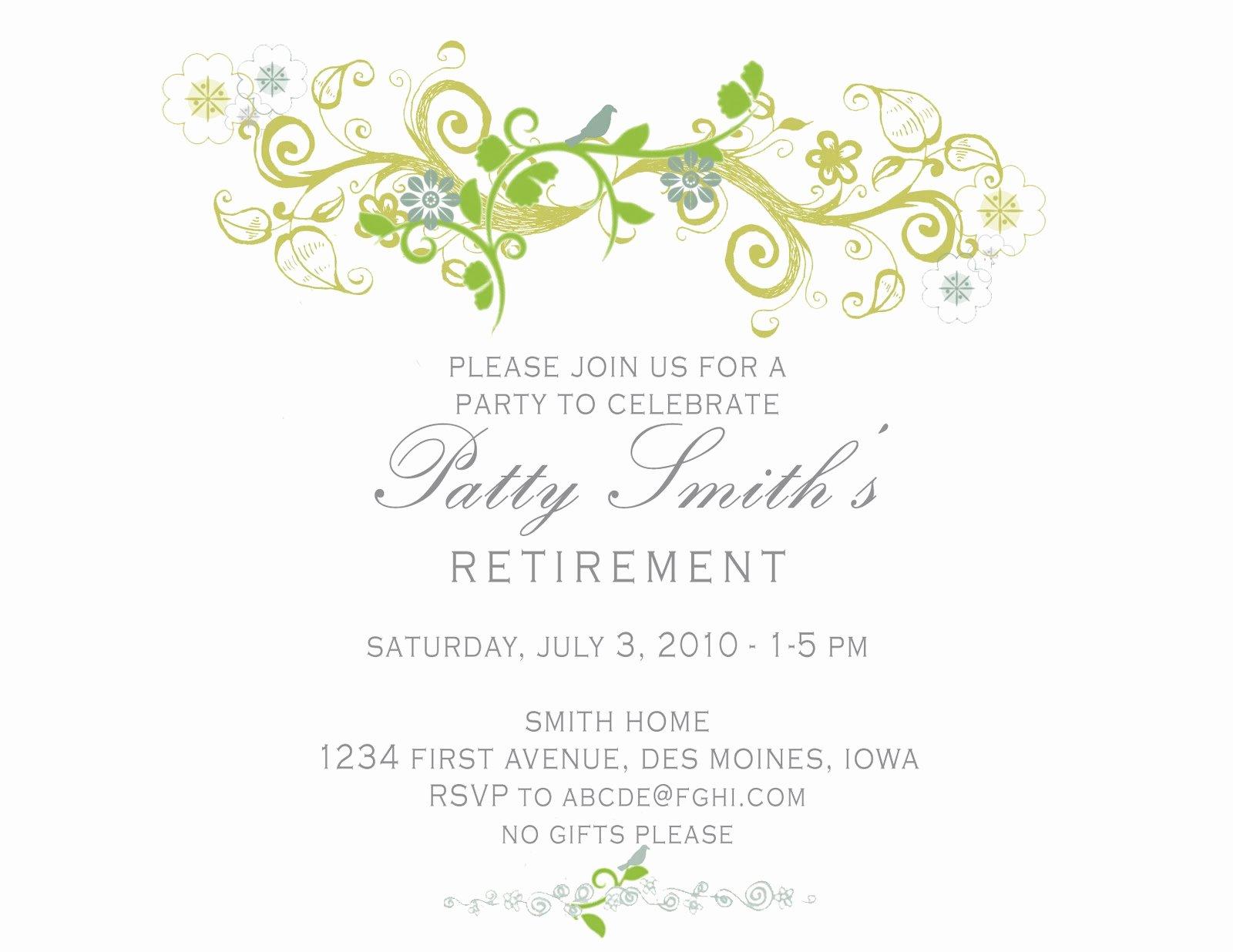 Retirement Party Invitations Templates Unique Idesign A Retirement Party Invitation