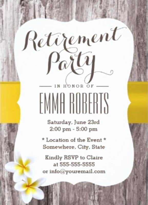 Retirement Party Invitations Templates Unique Retirement Flyer Template