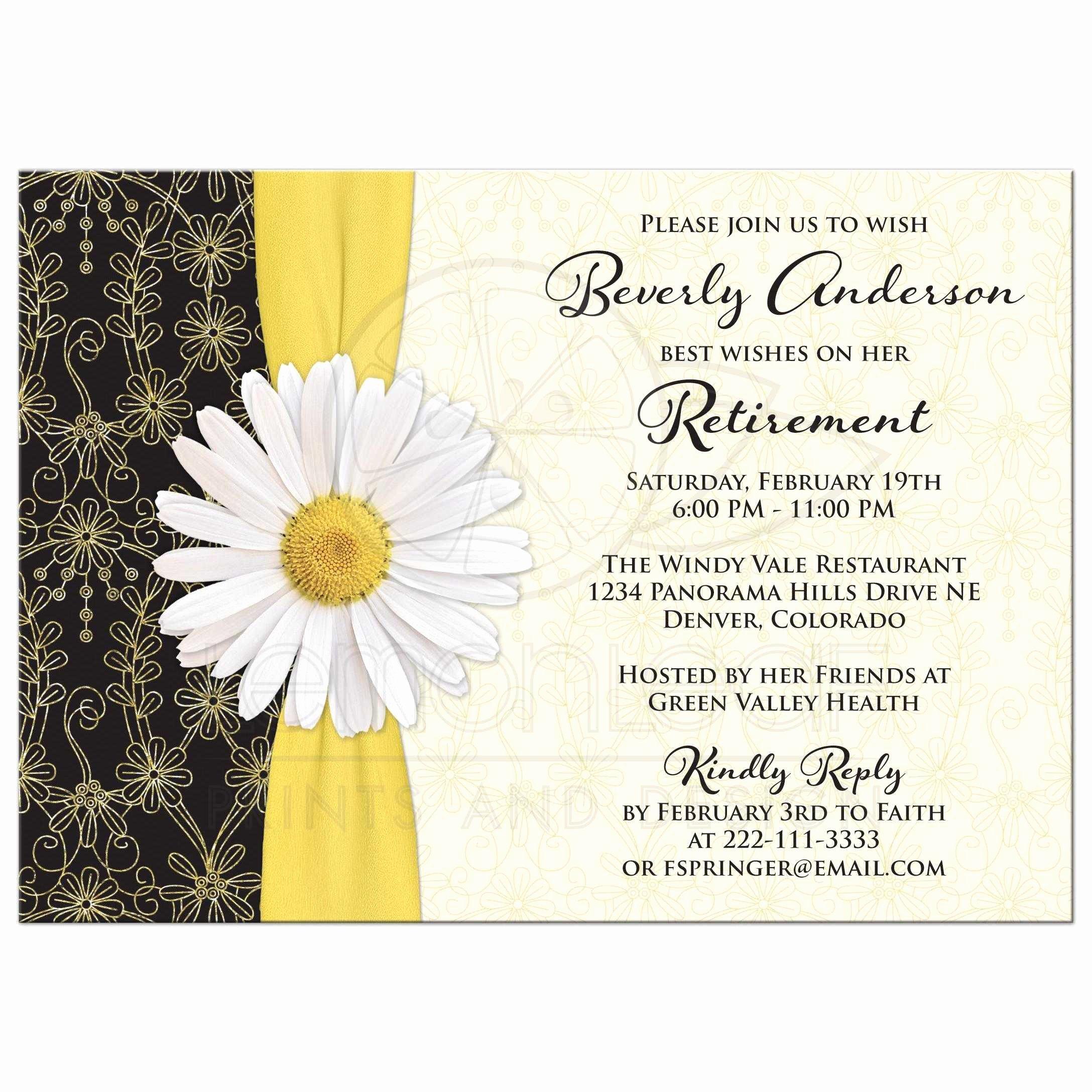 Retirement Party Invitations Templates Unique Retirement Party Invitation