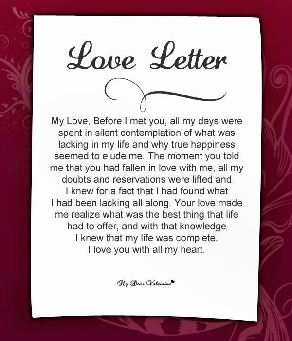 Romantic Love Letters for Her Best Of 20 Special and Romantic Love Letters for Girlfriends