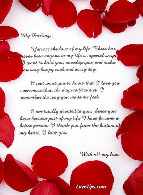 Romantic Love Letters for Her Inspirational 20 Romantic Love Letters for Her