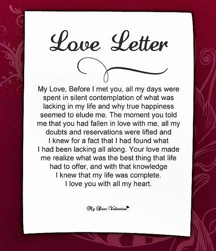 Romantic Love Letters for Her Inspirational Sweet Love Letters for Her