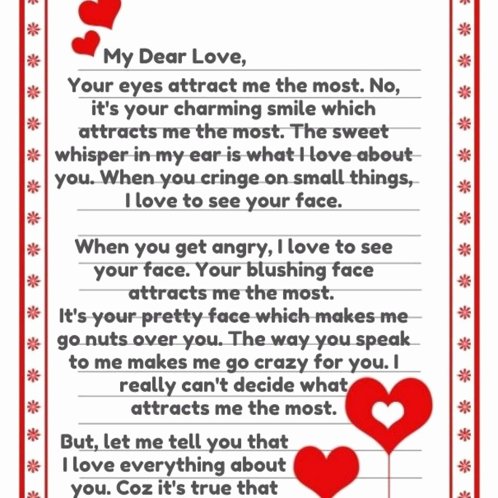 Romantic Love Letters for Him Elegant 5 6 Sweetest Letters