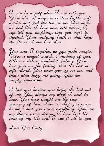 Romantic Love Letters for Him New Love Letters Funyari